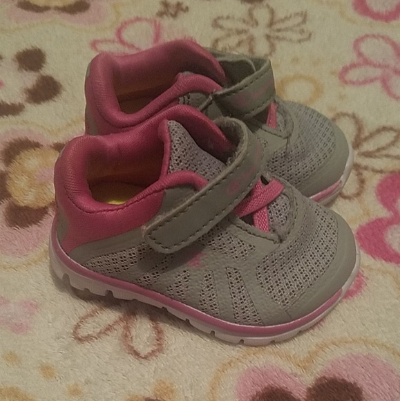 Champion Baby Girl Shoes Gray Pink Sz W